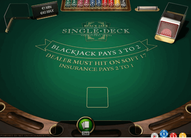 Single Deck Blackjack Pro S Gameplay