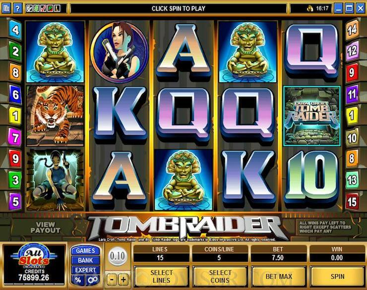 Tomb Raider Slot Gameplay